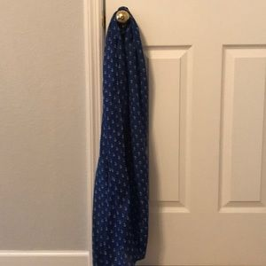 Blue scarf with anchor print